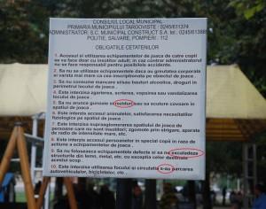 Panourile agramate ale Primăriei Târgoviște din locurile de joacă vor fi înlocuite. A fost adoptat un regulament nou.