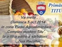 Ziua Recoltei – sărbătoarea toamnei la Titu!