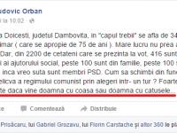 """PSD Dâmbovița, răspuns dur pentru Ludovic """"Mengele"""" Orban la declarația despre """"doamna cu coasa"""" și primarul de la Doicești!"""