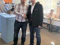 Corneliu Ștefan (PSD Dâmbovița) a votat la Pucioasa, alături de primarul Constantin Ana. Mesajele transmise!