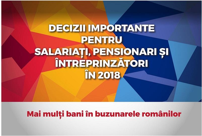 Decizii importante pentru salariati, pensionari si intreprinzatori in 2018-01