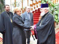 Târgoviște: Premierul Viorica Dăncilă, întâlnire cu IPS Mitropolit Nifon (foto)