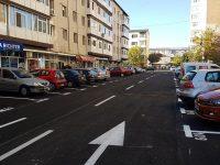 Târgoviște: Investiție finalizată în micro 5, pe str. Ion Ghica: în loc de garaje, parcare asfaltată și trasată!
