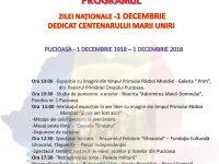 Pucioasa: Sărbătoare închinată Centenarului pe 1 Decembrie (program)