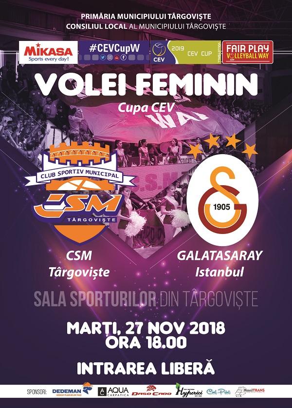 VOLEI: Meciul anului – CSM Târgoviște se bate cu un nume uriaș al sportului, Galatasaray Istanbul (declarații jucătoare)