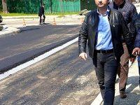 Târgoviște: Primul strat de asfalt pe str. Nicolae Filipescu
