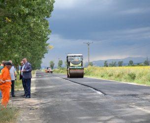 Conducerea CJD, vizită de lucru pe șantierul DJ 721 Târgoviște – Văcărești