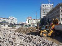 Târgoviște: Piața Tricolorului va fi transformată. Au început lucrările >> Urmează Parcul Mitropoliei și Piața Revoluției