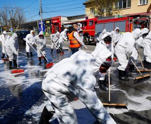 Târgoviște – FOTO: Acțiune impresionantă de igienizare/dezinfecție (detalii)