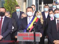 S-a constituit Consiliul Județean Dâmbovița / Primele declarații ale președintelui Corneliu Ștefan, după jurământ