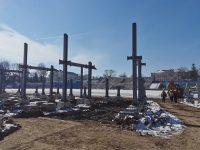"""Târgoviște: Stadiul lucrărilor la stadionul """"Eugen Popescu"""" / se încearcă omologarea provizorie (foto și declarații)"""