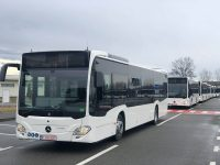 Primul lot de 11 autobuze Mercedes-Benz Citaro Hybrid a ajuns în Târgoviște (foto, declarații)