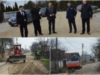 Se lucrează și în cartierul Priseaca: 13.000 mp de străzi în reabilitare!