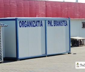 PROGRES: PNL Dâmbovița – sediu comunal într-un container!