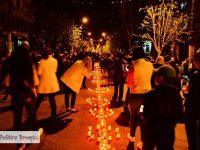Târgoviște: CALEA LUMINII, eveniment unic în România! 2018 lumânări aprinse în Joia Patimilor (foto)
