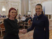 Claudia Gilia, întâlnire cu jurnaliștii de limbă română din Moldova, Serbia, Ucraina și Albania (foto + mesaj)