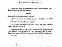 DOCUMENT: Demisia lui Caravețeanu, cuvinte grele către Ludovic Orban!