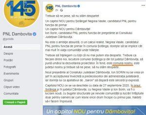 PNL Dâmbovița are candidat pentru …orașul Șotânga!