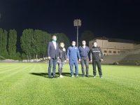 Lumină pe stadionul Chindiei Târgoviște! Primele probe la instalația de nocturnă (foto și declarații)